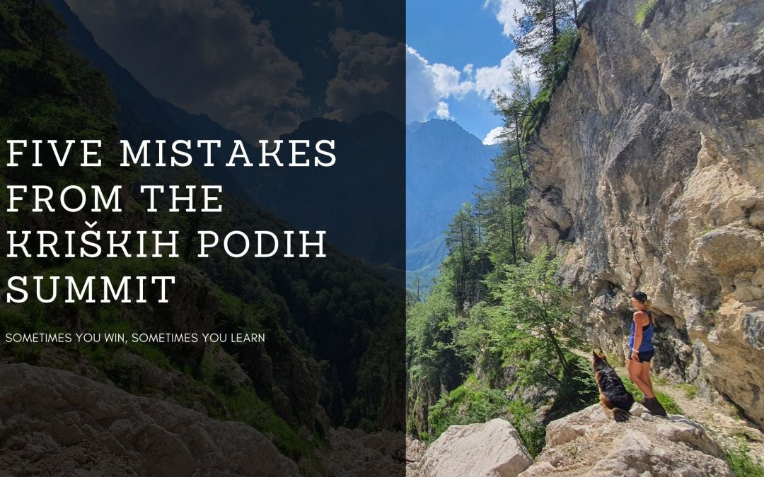Five mistakes from the Kriških Podih summit